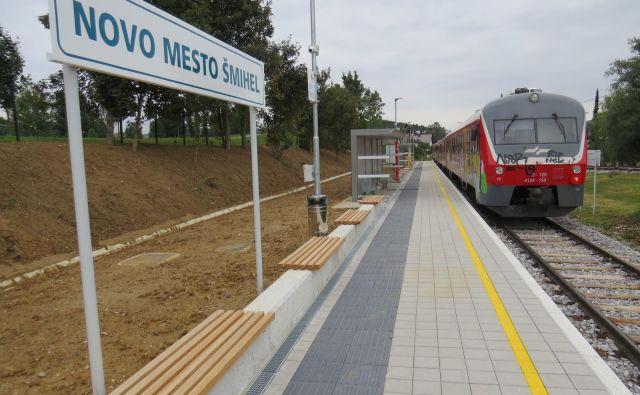 Potniški vlaki že vozijo dijake v Šmihel. FOTO: Bojan Rajšek/Delo