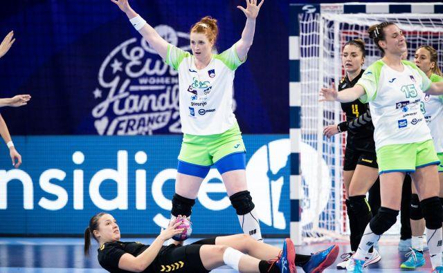 Lina Krhlikar je bila tudi v Franciji steber slovenske obrambe. FOTO: Jure Eržen