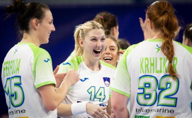 Slovenke so na koncu dobile zadoščenje in prvenstvo zapuščajo z dobrimi občutki, pa tudi malce grenkega priokusa. FOTO: Jure Eržen