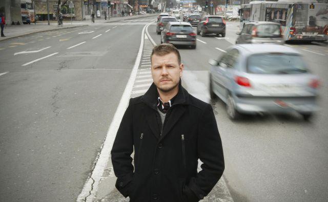 Aljaž Verhovnik: »O cesti govorim tudi, kadar kolesarim ali smučam. Če je ne bi tako ponotranjil, najbrž ne bi več vztrajal.« FOTO: Leon Vidic