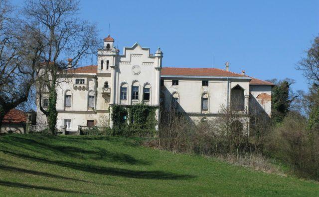 Pravda zaradi zemljišč okoli dvorca Jelšingrad, kjer so nekoč igrali golf, bo očitno še trajala. FOTO Špela Kuralt/Delo