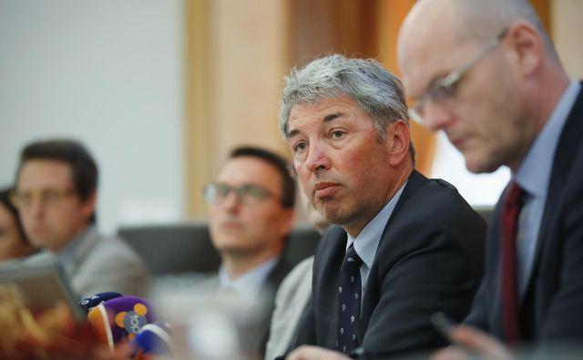 Darko Stare (drugi z desne) je bil državni sekretar v času pravosodnega ministra Gorana Klemenčiča. Foto Uroš Hočevar