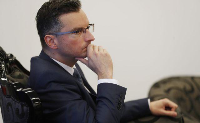 Prvi mož LMŠ in premier Šarec je nagovoru zbranim podpornikom stranke v Arboretumu Volčji Potok izpostavil pretekle uspehe stranke. FOTO: Leon Vidic/Delo
