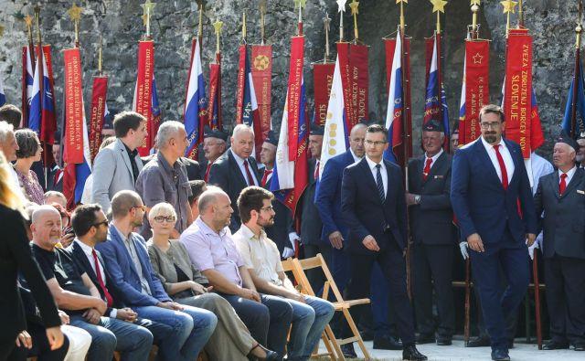 Marjan Šarec je bil slavnostni govornik na slovesnosti ob prazniku priključitev Primorske Sloveniji. FOTO: Stanko Gruden/STA