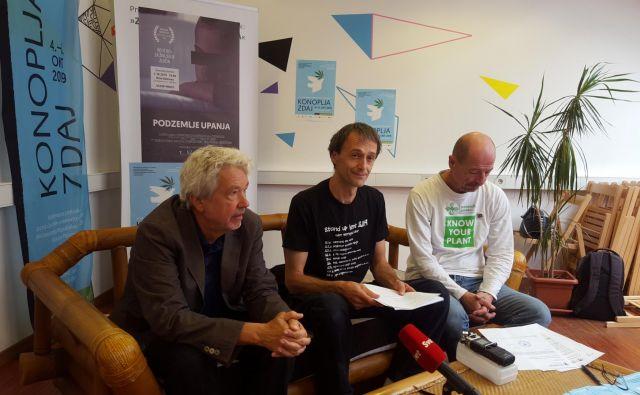 David Neubauer, Slavko Škvorc in Božimir Radišič vabijo na konfernco. FOTO: Borut Tavčar/Delo