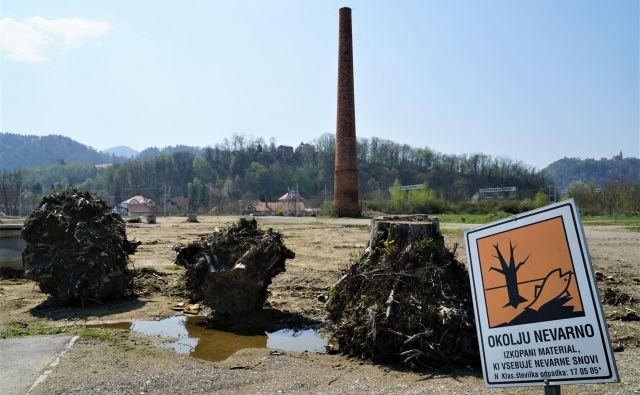 Območje stare Cinkarne, na samem robu mestnega središča Celja, še zdaleč ni sanirano. FOTO: Brane Piano