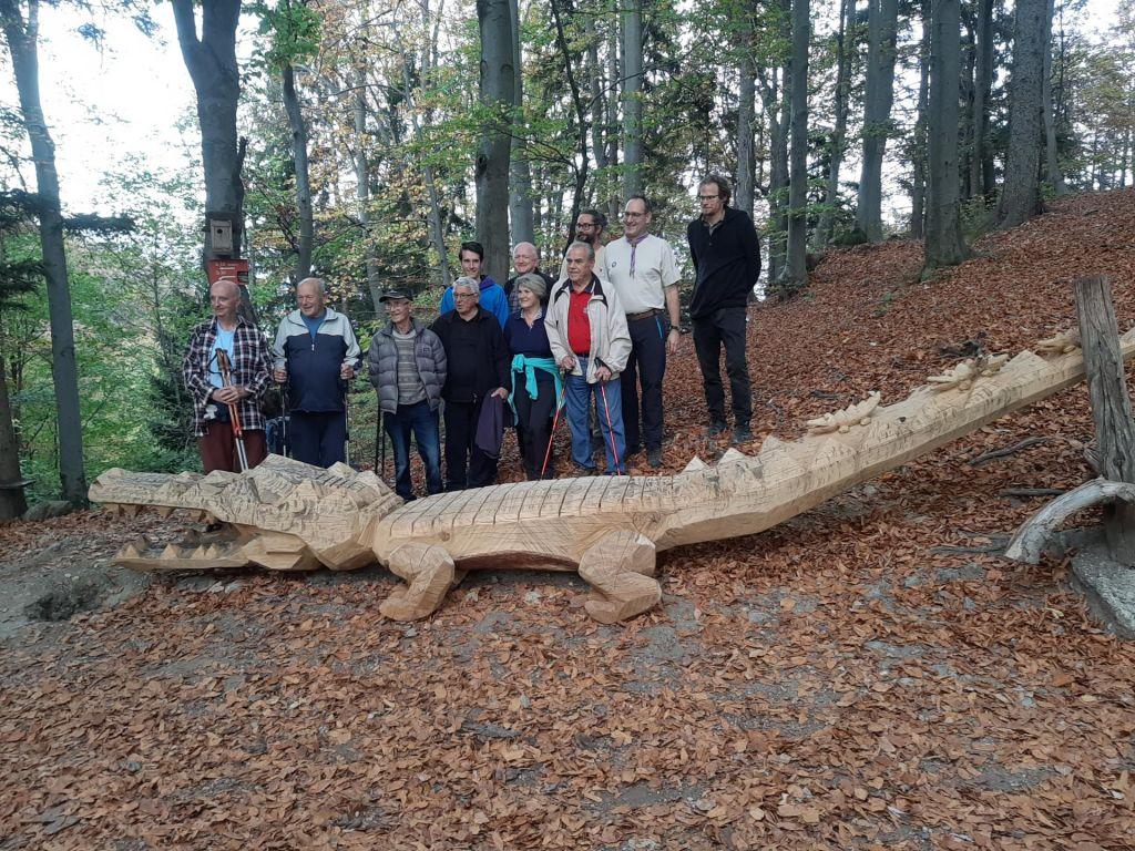 FOTO:Pod Joštom pohodnike pozdravlja in odžeja nov krokodilček