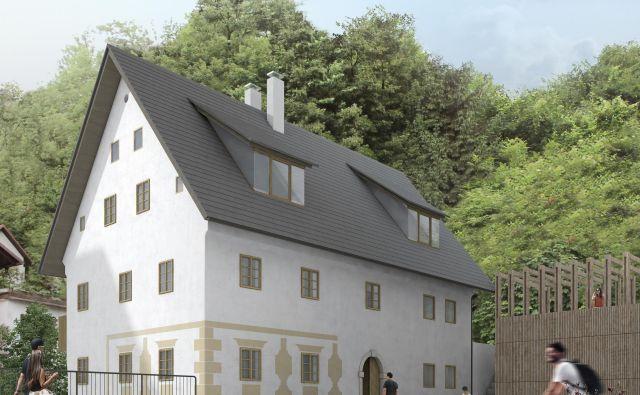 Hiša Trnovec bo po prenovi med drugim ohranila tipično zunanjo poslikavo. FOTO: KD prostoRož