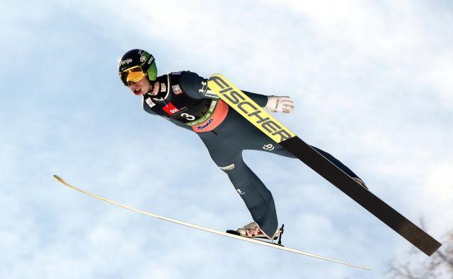 Žiga Jelar se je v kvalifikacijah Holmenkollna izkazal s tretjim mestom. FOTO: Marko Feist