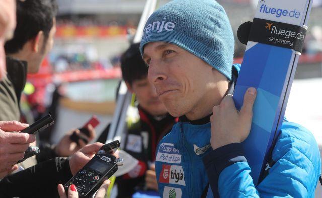 Jurij Tepeš po neposrečeni sezoni še ne ve, če bo nadaljeval tekmovalno kariero v smučarskih skokih. FOTO: Marko Feist/Delo