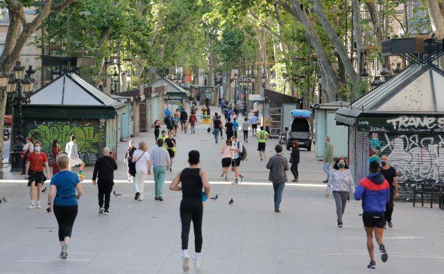 Rambla, središčna ulica Barcelone. FOTO: Pau Barrena/AFP