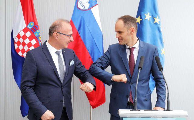 Srečanje zunanjih ministrom Anžeta Logarja in Gordana Grlića Radmana je ostalo brez rezultatov.<br /> Foto Daniel Novaković/STA