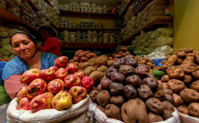 Na perujskih tržnicah je krompir prava paša za oči. FOTO: Shutterstock