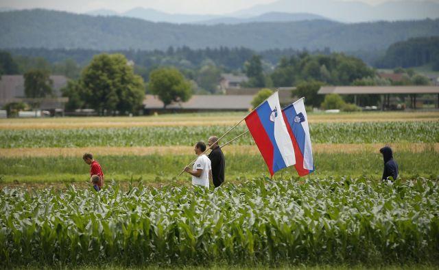 Šport in navijanje pri Slovencih lahko praktično edino odpravi delitve. FOTO: Jure Eržen/Delo