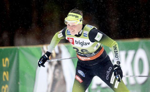 Vesna Fabjan je vrsto let branila barve slovenske reprezentance v tekaški smučini. FOTO: Roman Šipić/Delo