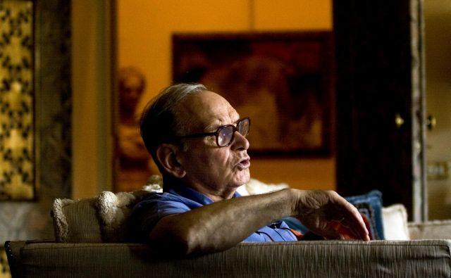 In memoriam: skladatelj Ennio Morricone. Za mnoge Morricone ni bil samo glasbeni genij, vizionar. Bil je kulturna ikona, kakršnih ne bomo imeli nikoli več. FOTO: Voranc Vogel/Delo