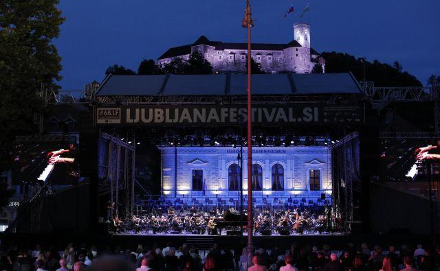 Dubravka Tomšič Srebotnjak; otvoritveni koncert 68. festivala Ljubljana. FOTO: Uroš Hočevar/Delo