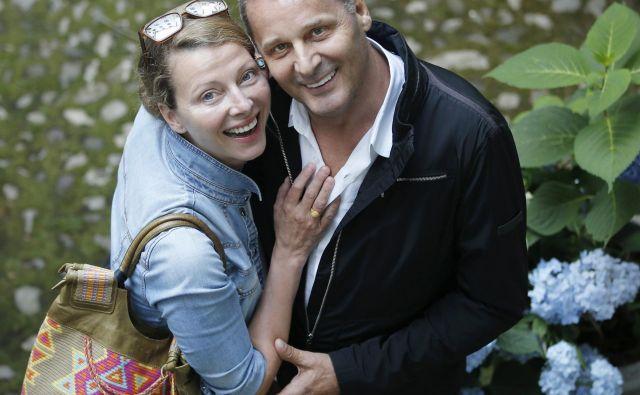 Nataša Matjašec Rošker in Danilo Rošker redko najdeta proste skupne trenutke. FOTO: Jure Eržen