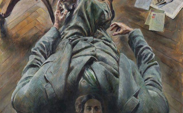 Ivan Vavpotič, Surrealistični portret z mrtvaško in žensko glavo, 1940 Fotografiji Arhiv Narodna Galerija