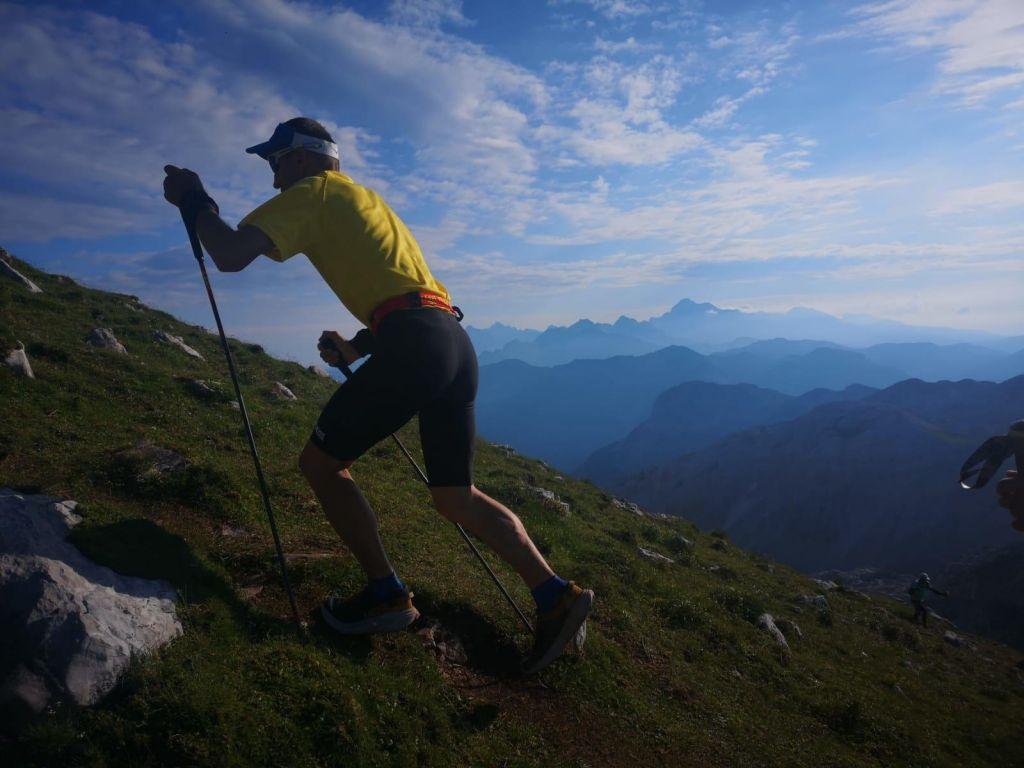 FOTO:Marjan Zupančič na Slovenski planinski poti premagal samega sebe