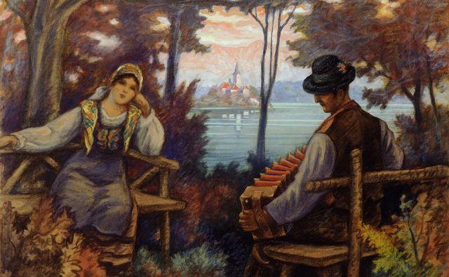 Maksim Gaspari (1883–1980) je leta 1933 upodobil sliko z naslovom Bled z Gorenjcem in Gorenjko. Obe sliki sta iz zbirke Narodne galerije, Ljubljana.
