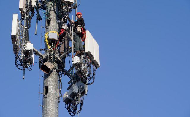 5G telekomunikacijski sistem v ZDA. Foto George Frey Reuters