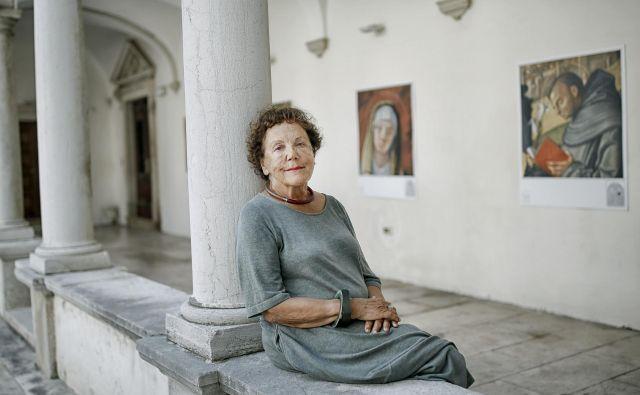 Sonja Ana Hoyer - slovenska umetnostna zgodovinarka, konservatorka svetnica, likovna kritičarka in pedagoginja. FOTO: Blaž Samec