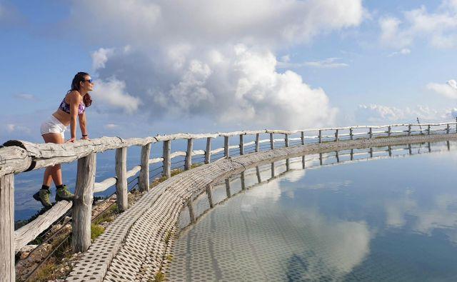 Jezero na Velikem Zvohu je najvišje ležeče akumulacijsko jezero v Sloveniji. FOTO: Jurij Pelc