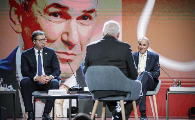 Janez Janša je presekal razpravo z izjavo, da so bile v Sloveniji leta 2014 ukradene volitve, pa to na Zahodu ni nikogar zanimalo. FOTO: Uroš Hočevar/Delo