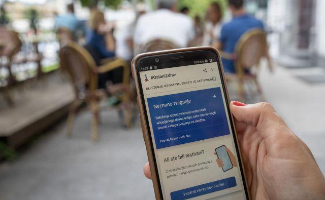 Uporabnikom naprav s sistemom android je aplikacija na voljo od 17. avgusta, v prvem tednu pa si jo je naložilo 37.400 uporabnikov. FOTO: Voranc Vogel/Delo