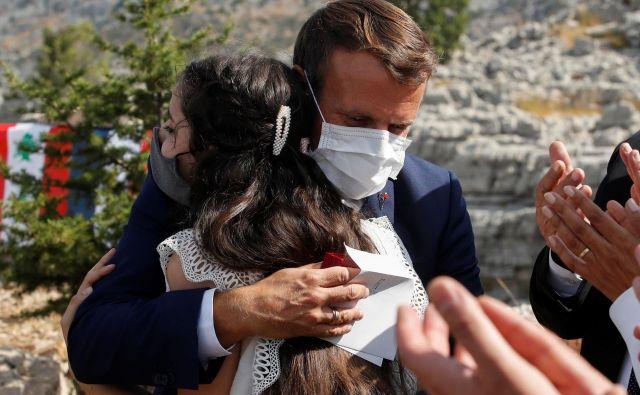 Francoski predsednik Emmanuel Macron Alors je obiskal Bejrut ob stoti obletnici nastanka države Veliki Libanon; razglasil jo je francoski general Henri Gouraud. Foto: Gonzalo Fuentes Reuters