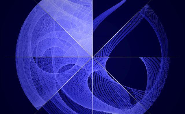 Fotografija je sestavljena iz osmih posnetkov, ki so nastali v različnih časovnih obdobjih. Foto Nasa/DOE/Fermi LAT