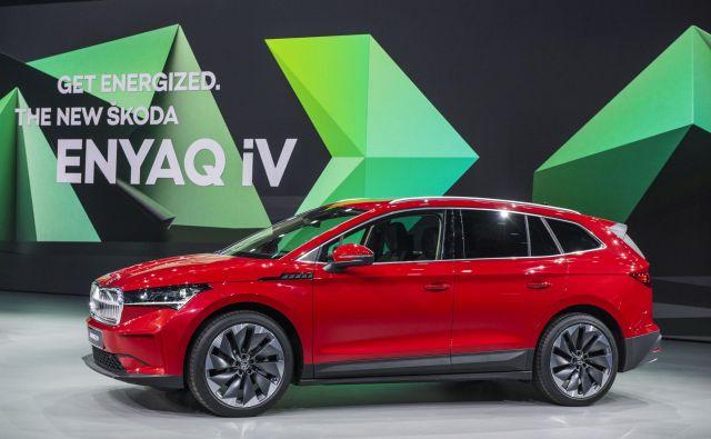 Škoda je razkrila model enyaq iV, svoji prvi izdelek, ki je posvečen izključno električnemu pogonu. Foto Škoda