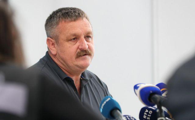 Milan Vogrinec, vodja celjskih kriminalistov, je razkril nekaj informacij sobotnega kaznivega dejanja v Žalcu. FOTO: Dejan Javornik/Slovenske novice