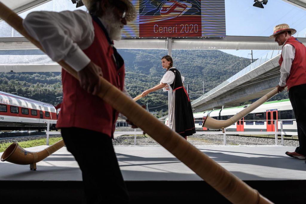 FOTO:Švicarji predor Ceneri gradili brez Kitajcev ali Turkov