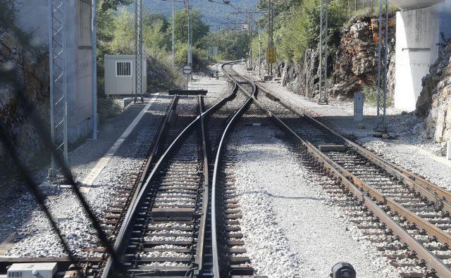 Začetek drugega tira na železniški progi Divača - Koper za postajo v Divači. Foto Uroš Hočevar