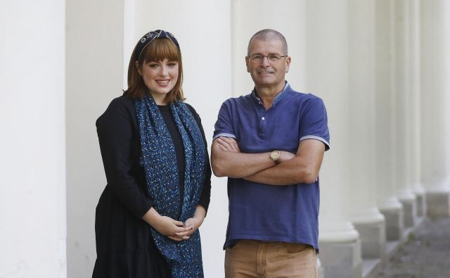Miha in Nika Kovač FOTO: Leon Vidic/delo