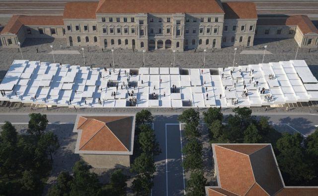 Zmagovalna ideja italijanskega arhitekturnega studia s pomičnimi platformami.