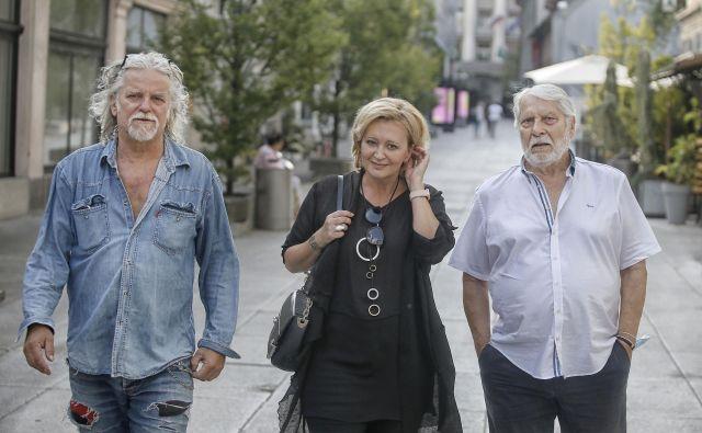 Igor Leonardi, Ksenija Benedetti in Boris Cavazza skupaj na sprehodu in Sprehodu. Foto Blaž Samec