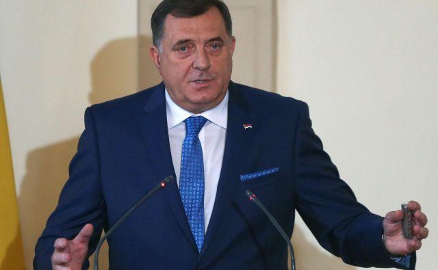 Cilj obiska Milorada Dodika v Zagrebu je bil zavit v tančico skrivnosti. FOTO: Dado Ruvić/Reuters