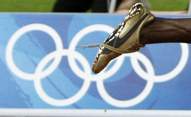 Najhitrejša noga vseh časov. FOTO: Jerry Lampen/Reuters