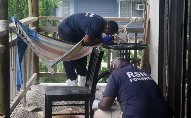 Policija Salomonovih otokov preiskuje eksplozijo v gosto naseljenem delu prestolnice Honiara. FOTO: Royal Solomon Islands Police Force/AFP
