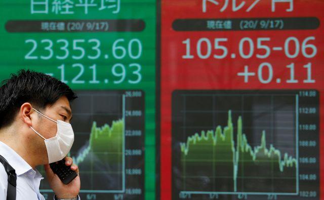 Rdeče in zeleno – obe barvi sta se letos na borznem trgu kar dramatično izmenjevali. FOTO: Issei Kato/Reuters