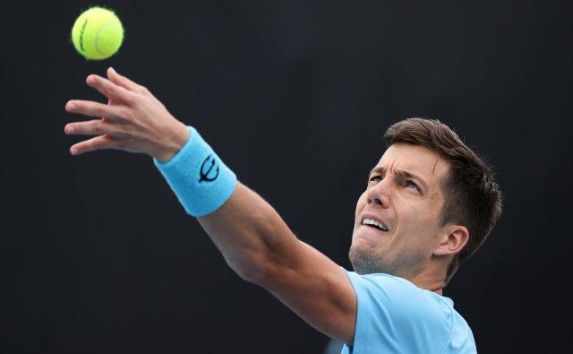Aljaž Bedene se bo v prvem krogu Roland-Garrosa pomeril s Francozom Arthurjem Rinderknechom. FOTO: David Gray/AFP