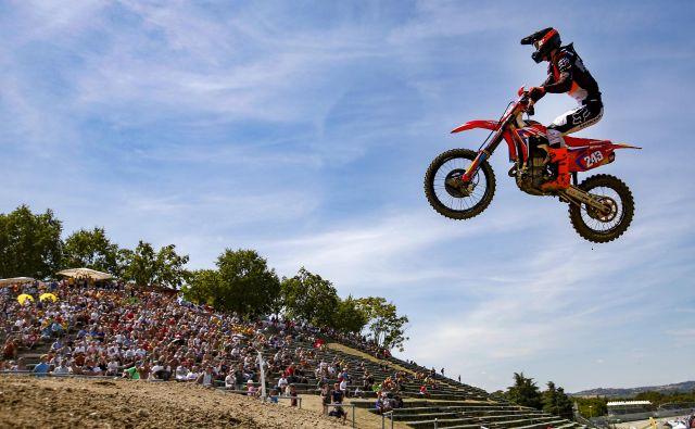 Tim Gajser je poletel do skupnega vodstva v globalni motokrosistični konkurenci. FOTO: Matej Družnik