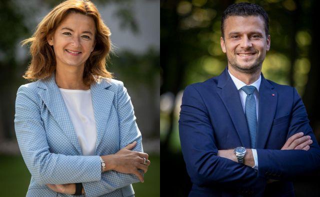 Kandidata za vodenje SD sta Tanja Fajon in Jani Prednik. FOTO: Voranc Vogel/Delo<br /> <br /> <br />