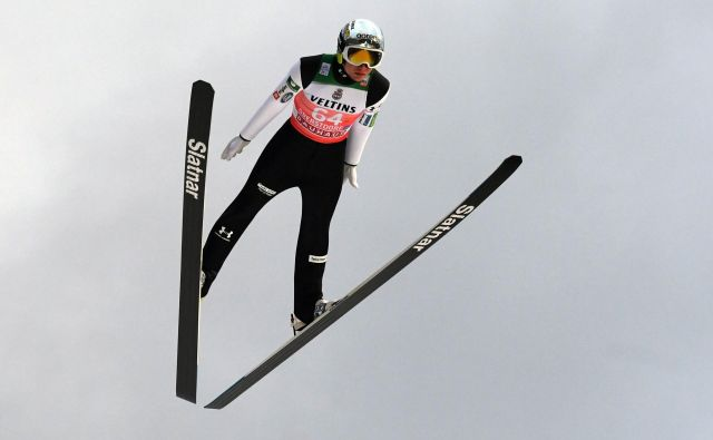 Anže Lanišek je dobro formo potrdil z zmago v Planici. FOTO: Christof Stache/AFP