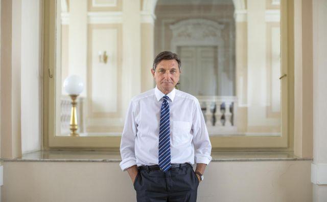 Predsednik države Borut Pahor se bo moral v kratkem odločiti, koga bo predlagal za viceguvernerja Banke Slovenije. FOTO: Voranc Vogel/Delo