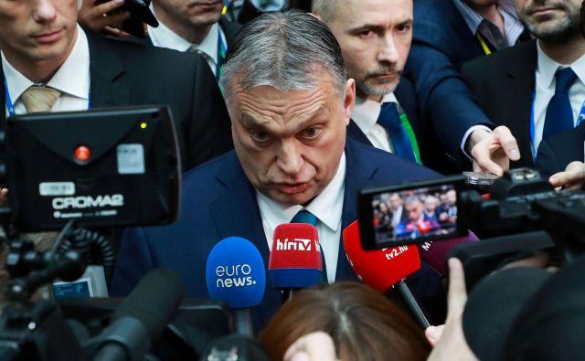 Madžarski premier Viktor Orbán je očital podpredsednici evropske komisije Věri Jourovi, da ponižuje Madžarsko in madžarske ljudi.<br /> Foto Ludovic Marin/AFP