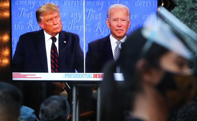 Prva predsedniška debata v Clevelandu. FOTO:Mario Tama/Getty Images/AFP